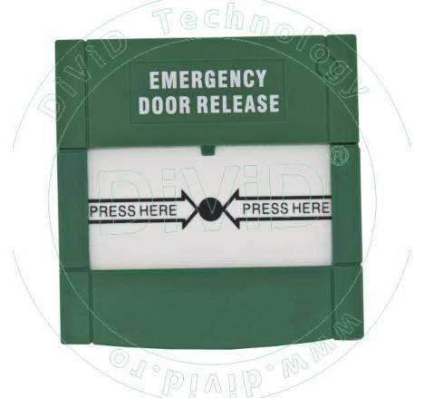 Buton aplicat din plastic cu doua relee, pentru iesire de urgenta ABK-90RA-2