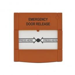 Buton aplicabil din plastic, pentru iesire de urgenta - portocaliu ABK-90RO