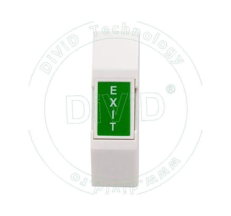 Buton de panica fosforescent aplicabil, din plastic, fara retinere 5C-65B-N
