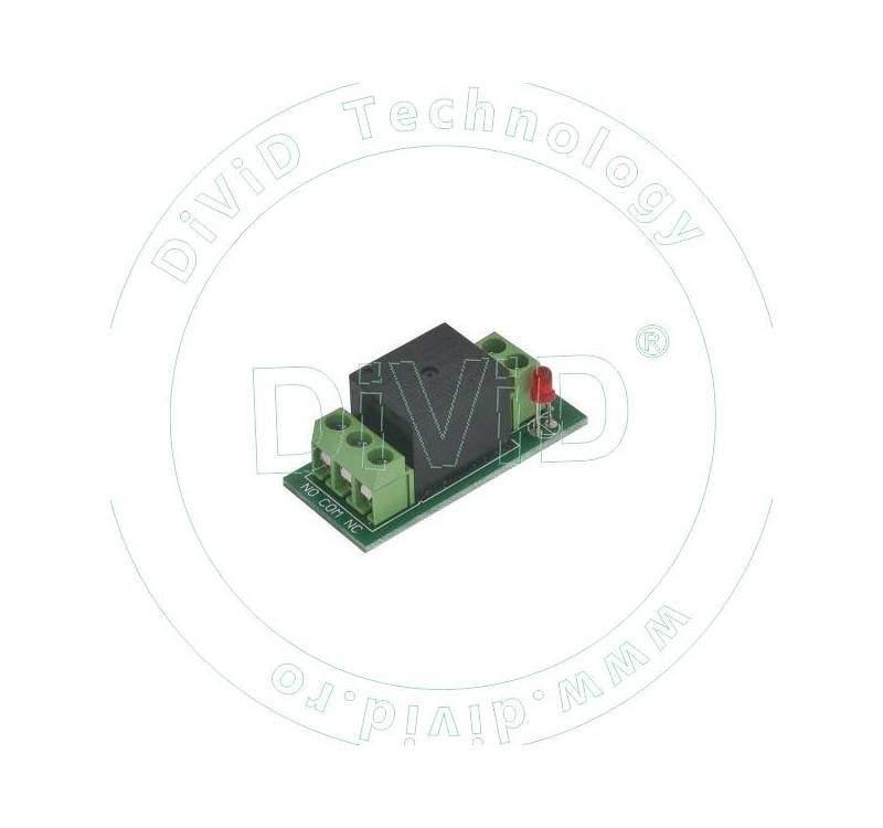 Placuta cu releu, LED, convertor ABK-506A