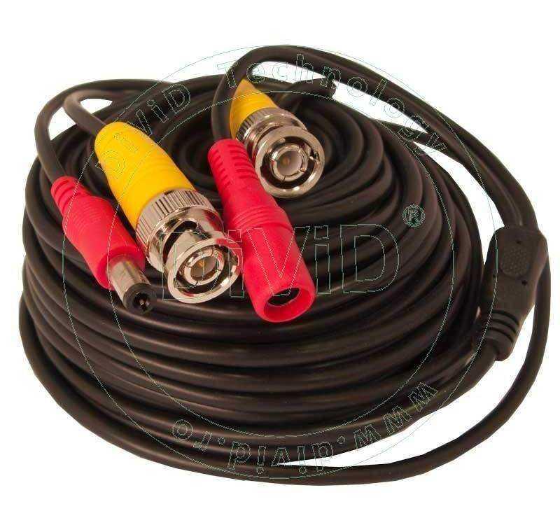 Cablu video cu alimentare si mufe 15 metri