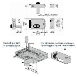 Yala electromagnetica cu cilindru - stanga