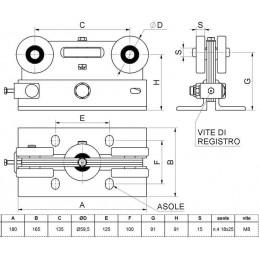 Carucior Echo 5 role pentru porti autoportante schema