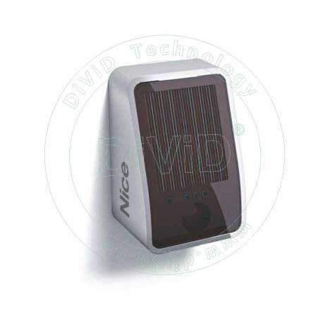Fotocelule Nice wireless cu panou fotovoltaic PHW